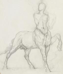 Etude de centaure by Gustave Moreau