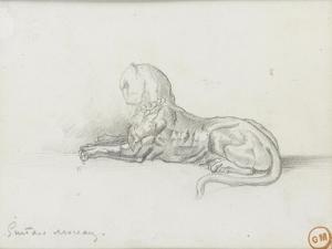 """Etude de panthère pour """"Salomé dansant devant Hérode"""" by Gustave Moreau"""