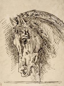 Etude de tête de cheval pour Diomède dévoré par ses chevaux by Gustave Moreau