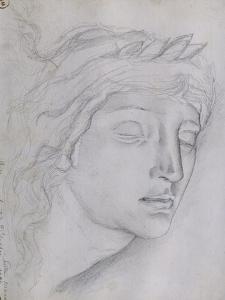 Etude pour la tête d'Orphée by Gustave Moreau