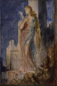 Helen on the Ramparts of Troy by Gustave Moreau