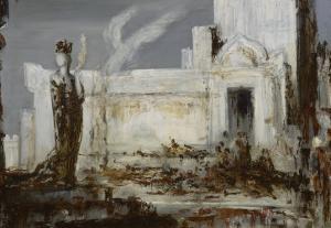 Hélène à la porte Scée by Gustave Moreau