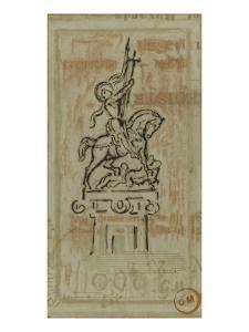 Jeanne d'Arc (projet de statue équestre) by Gustave Moreau