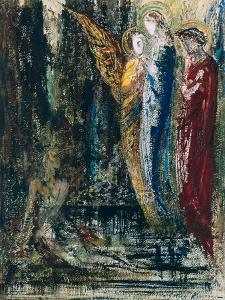 Job and the Angels, circa 1890 by Gustave Moreau