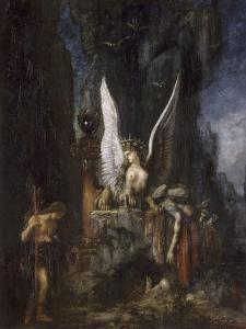 Le Voyageur ou Oedipe voyageur ou l'Egalité devant la mort by Gustave Moreau