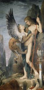 Oedipus and the Sphinx, 1864 by Gustave Moreau