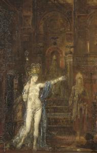 """Salomé dansant dite """"Salomé tatouée"""" by Gustave Moreau"""