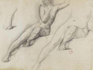 Trois études pour Léda by Gustave Moreau