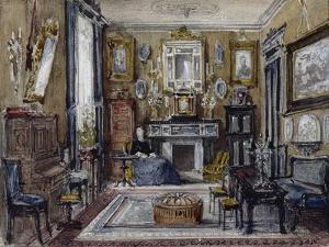 Vue d'un salon by Gustave Moreau