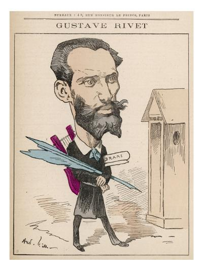Gustave Rivet (1848-1936) French Poet, Playwright, Journalist and Politician--Giclee Print
