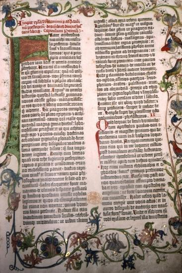 Gutenberg Bible, 42-line Bible printed in Mainz, 1455-Unknown-Giclee Print