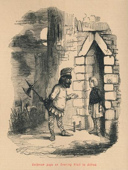 'Guthrum pays an Evening Visit to Alfred', c1860, (c1860)-John Leech-Giclee Print