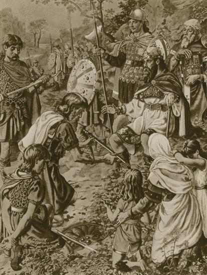 Guthrum's Submission to Alfred the Great--Giclee Print