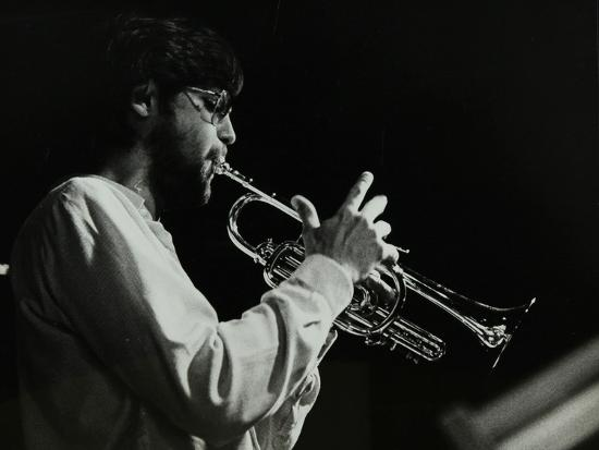 Guy Barker Playing the Trumpet at the Stables, Wavendon, Buckinghamshire-Denis Williams-Photographic Print