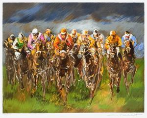 Tierce a Longchamp by Guy Buffet