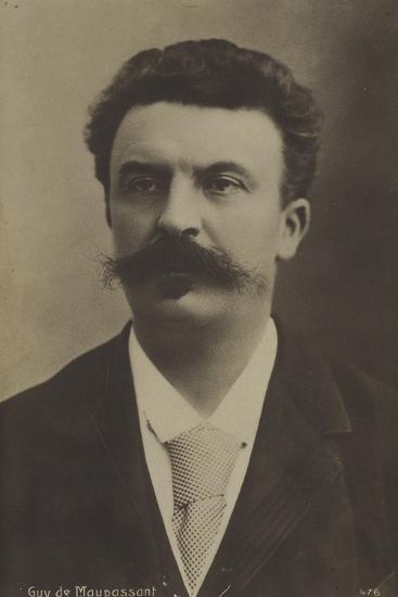 Guy De Maupassant, French Author--Photographic Print