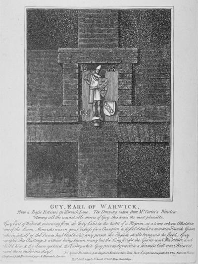 Guy, Earl of Warwick, Relief in Warwick Lane at the Corner of Newgate Street, City of London, 1791-John Thomas Smith-Giclee Print