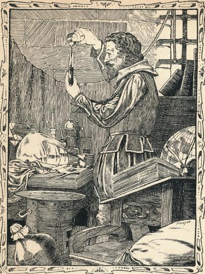 Guy Fawkes Preparing the Slow Match, 1902-Patten Wilson-Giclee Print
