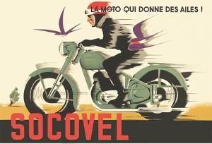 Socovel Motorcycles - The Moto Gives You Wings (La Moto Qui Donne Ailes) by Guy Georget