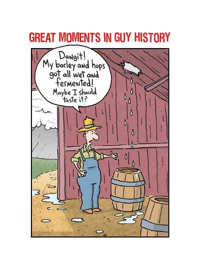 Guy History: Beer--Art Print
