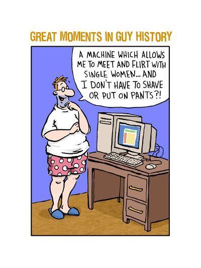 Guy History: Computer--Art Print