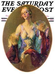 """Elegant Woman,"" Saturday Evening Post Cover, July 30, 1932 by Guy Hoff"