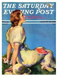 """Inspired by Poetry,"" Saturday Evening Post Cover, August 24, 1935 by Guy Hoff"