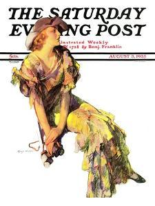 """Summer Frock,"" Saturday Evening Post Cover, August 3, 1935 by Guy Hoff"