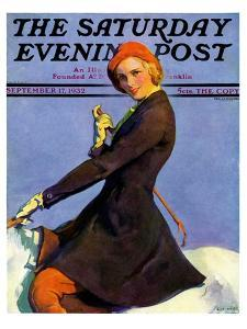 """Woman on Horseback,"" Saturday Evening Post Cover, September 17, 1932 by Guy Hoff"