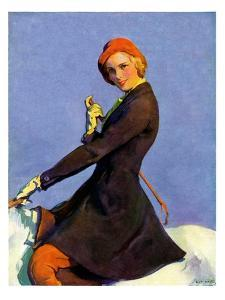 """Woman on Horseback,""September 17, 1932 by Guy Hoff"