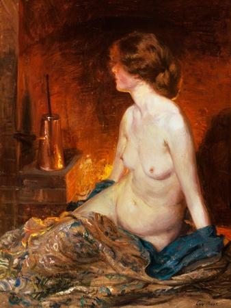 Nude Figure by Firelight