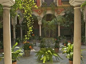 Beautiful Sevillan Patio, Triana District, Sevilla, Andalusia, Spain, Europe by Guy Thouvenin