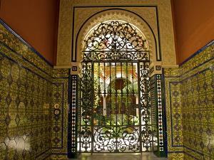 Beautiful Sevillan Patio, Triana District, Sevilla, Andalusia, Spain, Europe by Guy Thouvenin