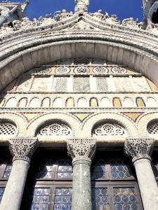 Detail of St. Mark's Basilica, Venice, Veneto, Italy by Guy Thouvenin