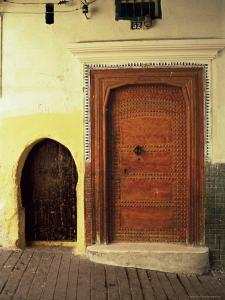 Doors in the Medina, Tangiers, Morocco, North Africa, Africa by Guy Thouvenin