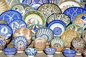 Earthenware Plates and Dishes from Fez by Guy Thouvenin