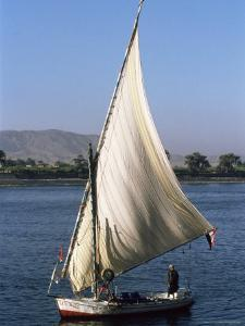Felucca on the River Nile, Egypt, North Africa, Africa by Guy Thouvenin
