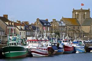 Fishing Boats and Harbour, Normandy by Guy Thouvenin
