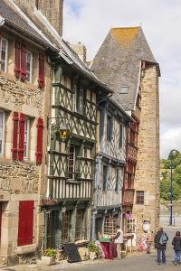 Half Timbered Houses, Old Town, Treguier, Cotes D'Armor, Brittany, France, Europe by Guy Thouvenin