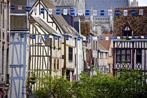 Half Timbered Norman Facades, Rouen, Normandy, France, Europe by Guy Thouvenin