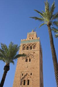 Koutoubia Minaret, Marrakesh, Morocco, North Africa, Africa by Guy Thouvenin