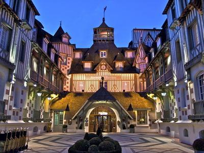 Normandy Barriere Hotel in the Evening, Deauville, Normandy, France