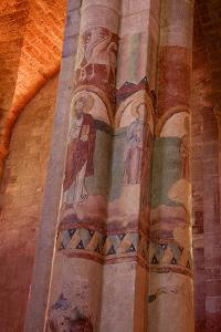 Paintings on Nave and Columns, Haute Loire by Guy Thouvenin
