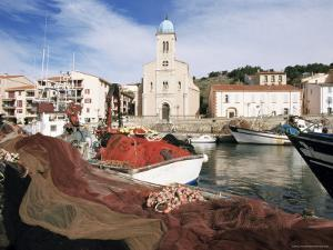 Port Vendres, Seen from the Harbour, Roussillon, France by Guy Thouvenin