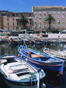 Small Fishing Boats, Ajaccio, Corsica, France, Mediterranean by Guy Thouvenin