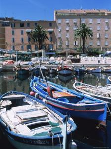 Small Fishing Boats, Ajaccio, Corsica, France, Mediterranean by Guy Thouvenin