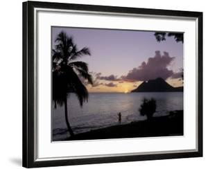 Sunset, Morne Larcher, Baie De La Chery (Chery Bay), Martinique by Guy Thouvenin