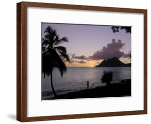 Sunset, Morne Larcher, Baie De La Chery (Chery Bay), Martinique by Guy Thouvenin