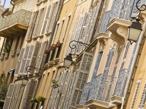 Typical Building Facade, Old Aix, Aix En Provence, Provence, France, Europe by Guy Thouvenin