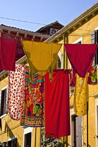 Washing Day, Laundry Drying, Castello, Venice, UNESCO World Heritage Site, Veneto, Italy, Europe by Guy Thouvenin